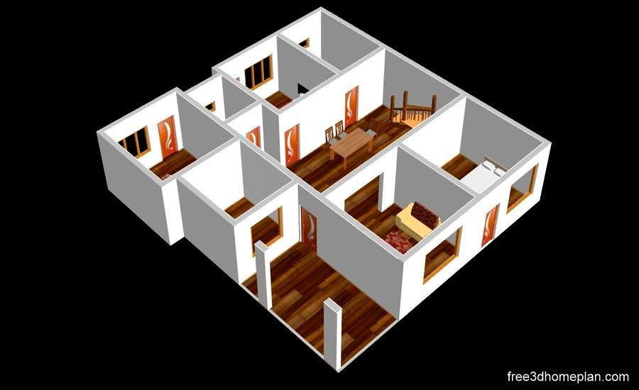 41x46 Sft Plans Free Download Home Design Download Free 3d Home Plan