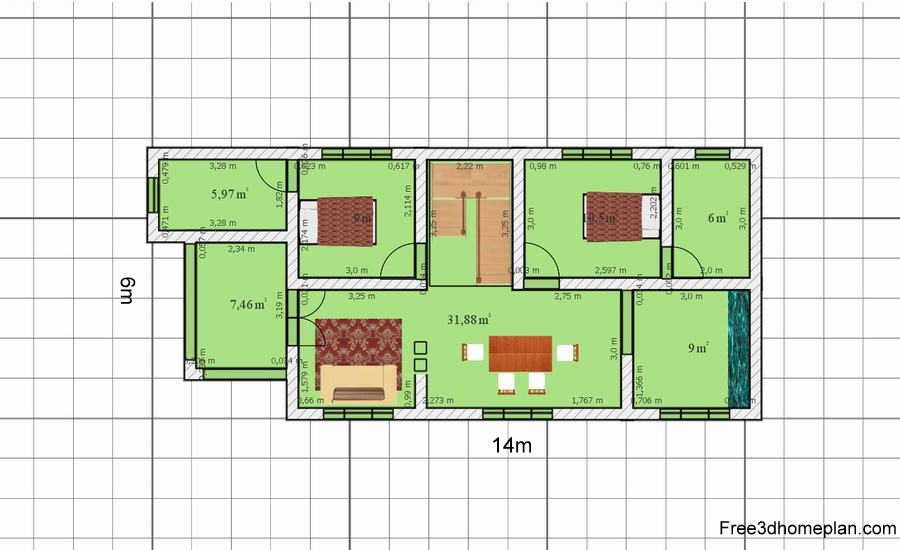 free3dhomeplan 223 - Download Small House Design Software Free Download  Pics