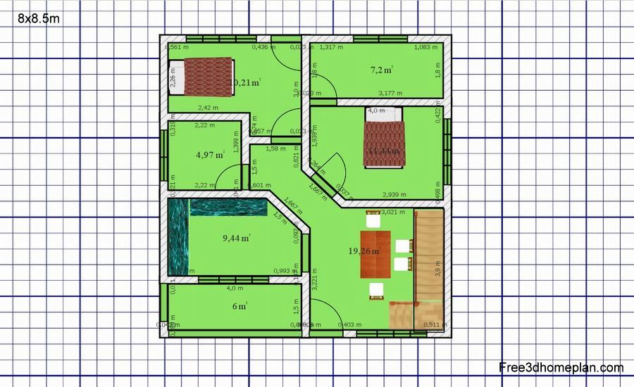 8x8 5m Plans Free Download Small Home Design Download Free 3d Home Plan