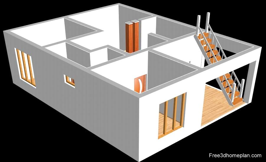 22x46 Sqft Plans Free Download Small Home Design Download Free 3d Home Plan