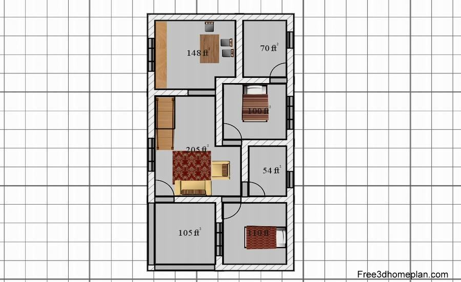 20x40sqft Plans Free Download Small Home Design Download Free 3d Home Plan